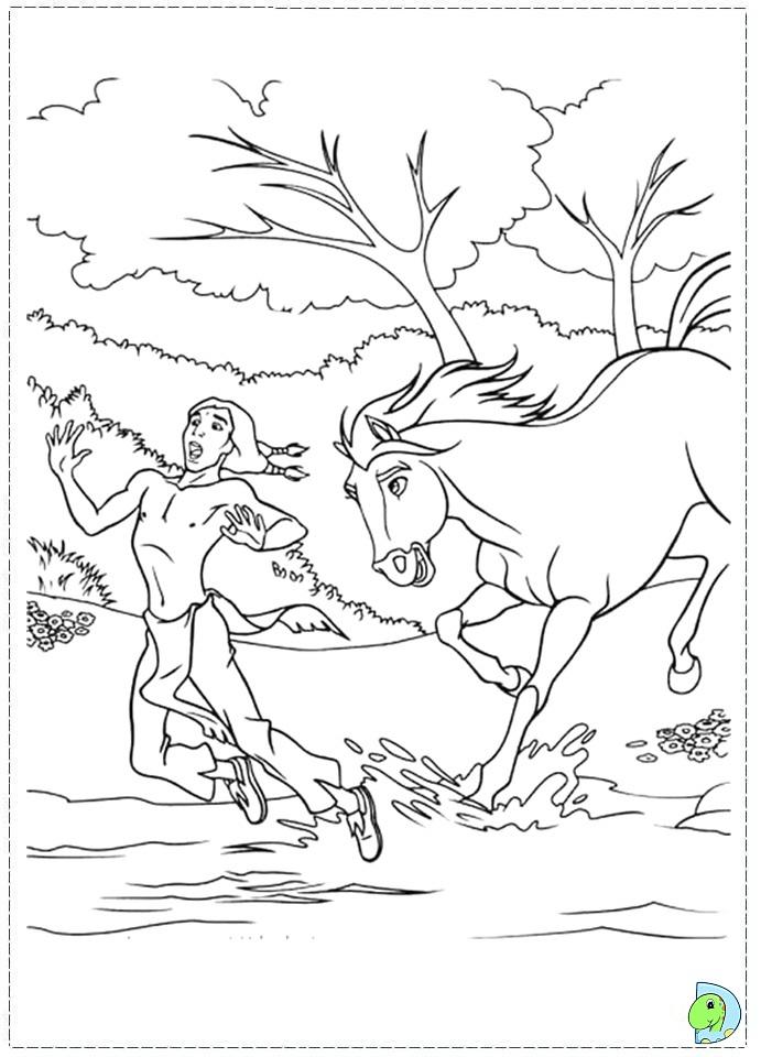 Spirit Coloring page- DinoKids.org