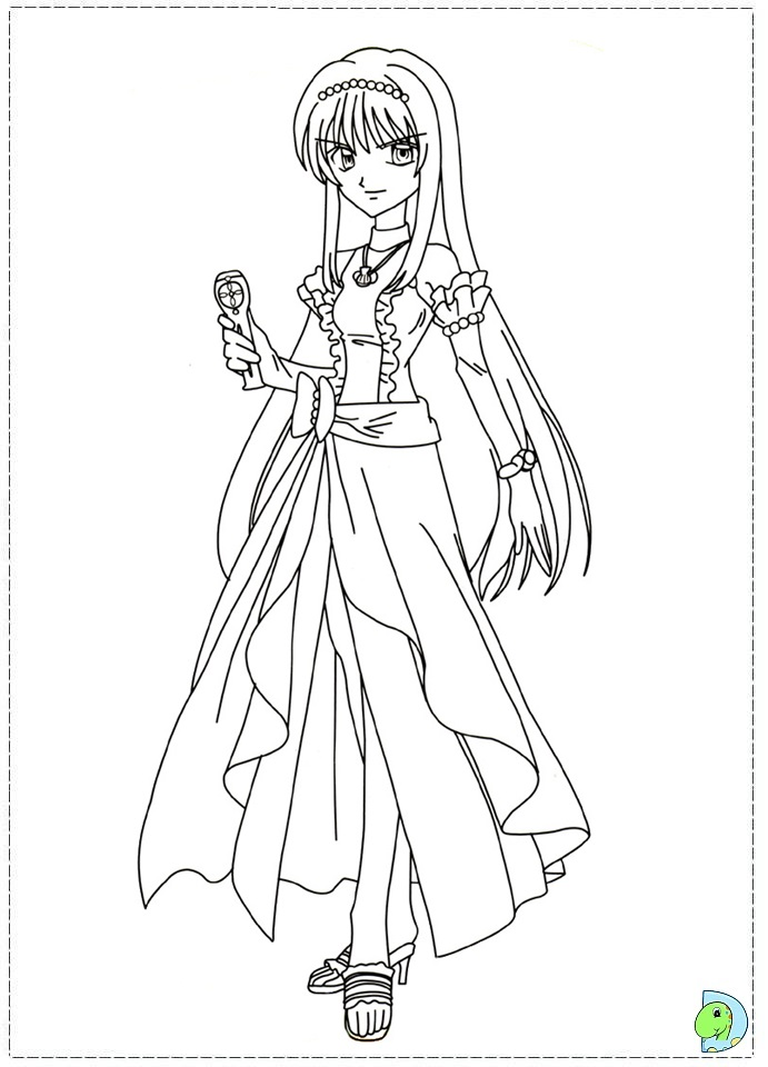 mermaid melody coloring book pages - photo#20