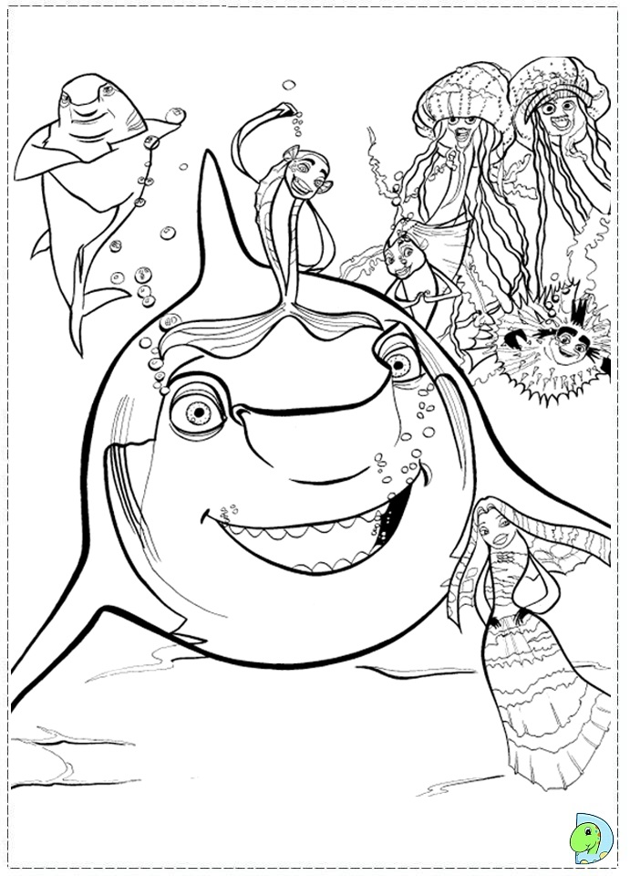 Shark Tale Printable Coloring Pages