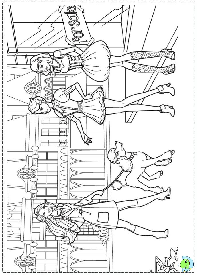 Barbie Fashion Fairytale Coloring Pages