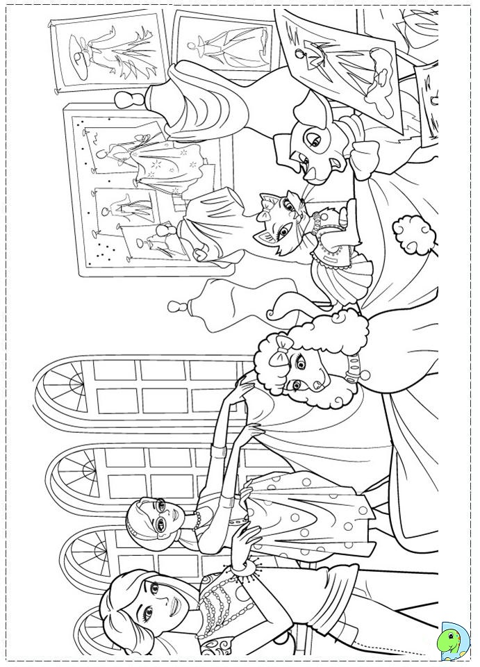 Barbie a fashion fairytale coloring pages