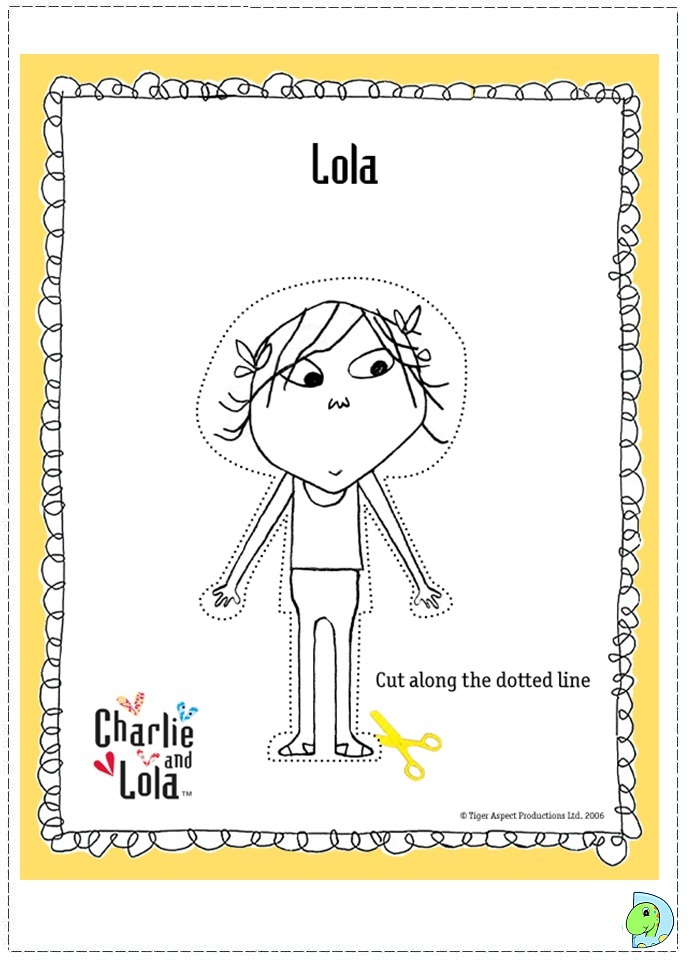 Charlie and Lola Coloring page- DinoKids.org