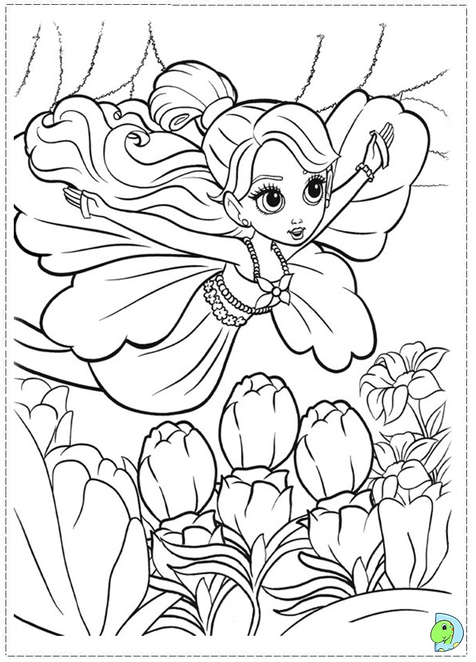 barbie thumbelina coloring page dinokids org