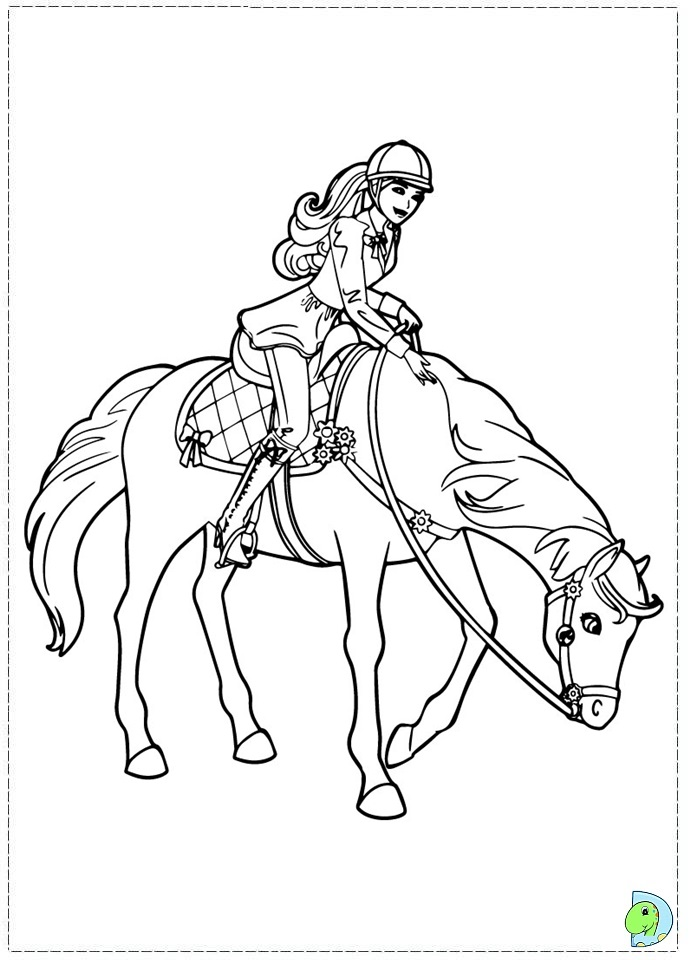 Barbie Pony Coloring Pages Coloring Pages